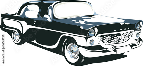 retro car in vector format - 66065359
