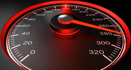 Speedometer Red Fast Speed