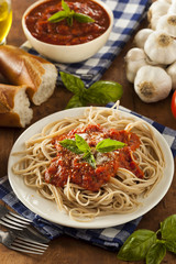 Homemade Spaghetti with Marinara Sauce