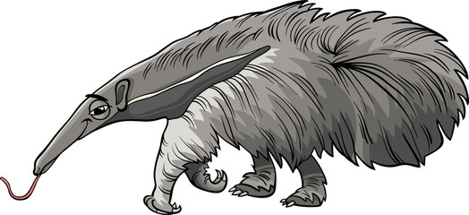 anteater animal cartoon illustration