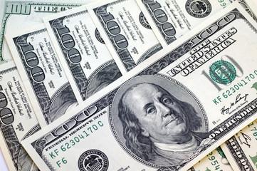 Hundred dollar bills, for a background
