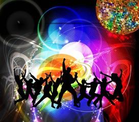 Dancing people. Vector