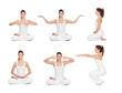 Pretty woman doing yoga