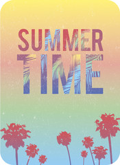 Typographical quote summer time sunny background