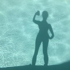 selfie am pool