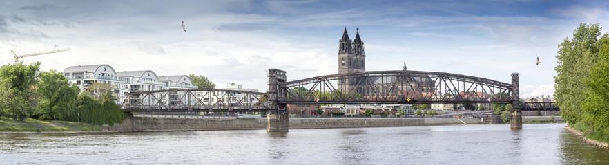 Magdeburg - DOM -  Elbpanorama