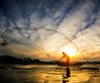 Fisherman of Bangpra Lake - 66068704