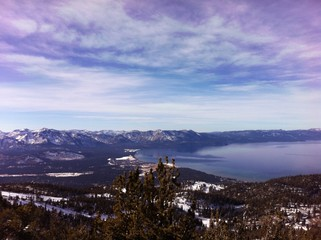 Amazing view over Lake Tahoe (horizontal)