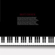 Vector modern piano background. - 66070705
