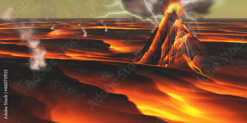 Volcanic Planet - 66070935