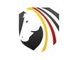 horse logo german flag symbol emblem