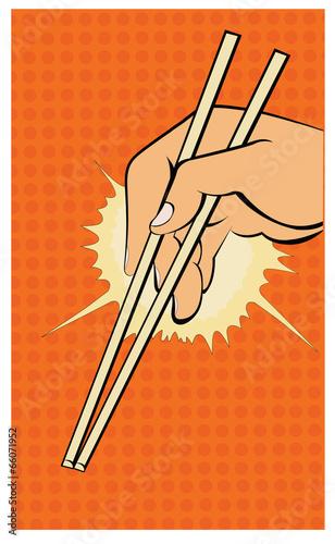 ilustracja-dloni-paleczkami-w-stylu-pop-komiks