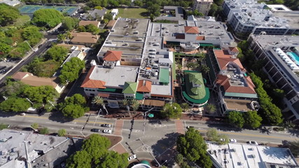 Cocowalk Coconut Grove Miami aerial video