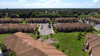 Residential community aerial video footage