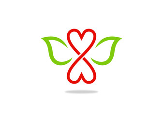 love infinity and leaf ecology logo