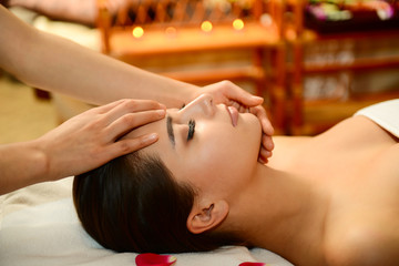 Beautiful woman getting spa treatment