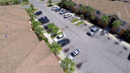 Residential neighborhood aerial video