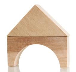 Wood house isolated on white
