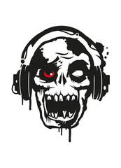 Zombie hört Musik