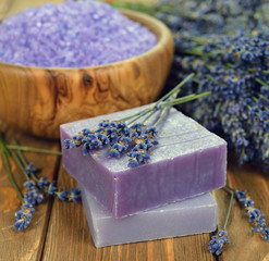 Soap with lavender