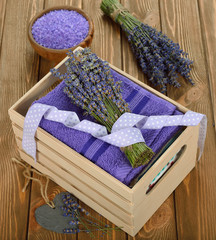 Towel and lavender