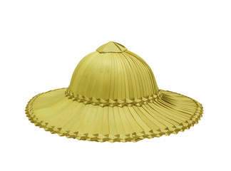 Palm hat for farmers isolated on white background