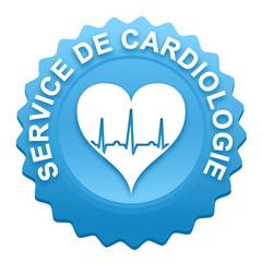 service de cardiologie sur bouton web denté bleu