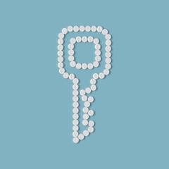 pills concept: key