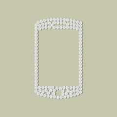 pills concept: mobile, phone, smartphone