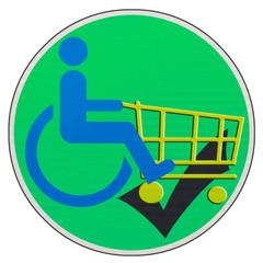 concept commerce et accessibilité handicapés