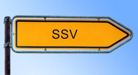 Strassenschild 6 - SSV