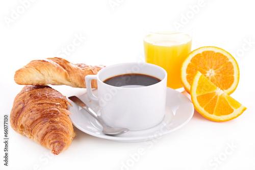 Papiers peints Salle de cafe coffee cup and croissant