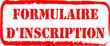 tampon formulaire d'inscription