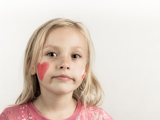 Small girl as polish fan