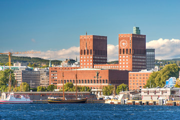 Oslo City Hall and harbor