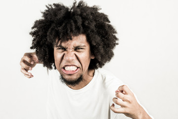 Facial expression of man - furious