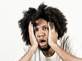 Facial expression of man -