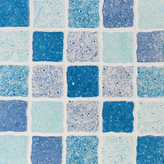 Blue abstract tile texture background.