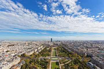 Panorama of Paris from the Eiffel Tower
