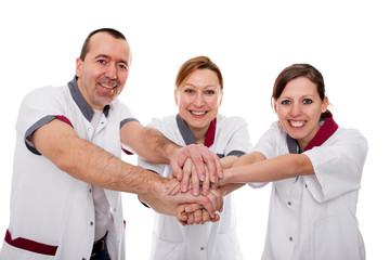 Konzept: Teamwork bei Pflegepersonal