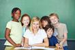 Portrait von Lehrer und Schüler