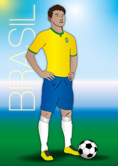 brazil soccer players uniform