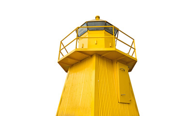 Wide view of Lighthouse on white background