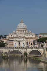 St. Peter's Basilica And Ponte Sant'Angelo