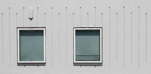 Windows in a facade