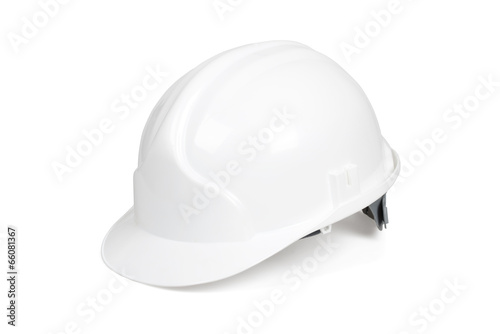 White hard hat isolated on white with clipping path. - 66081367