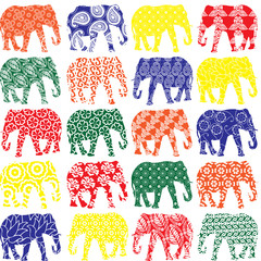seamless pattern with elephants