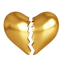 Golden broken heart