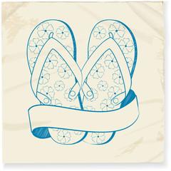 flip flop and banner doodle