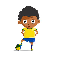 Illustrations Footballers wearing yellow shirt